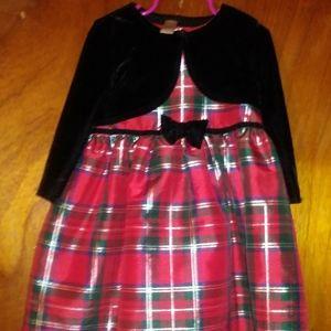 GEORGE Christmas Plaid Dress & Jacket (2pc.)